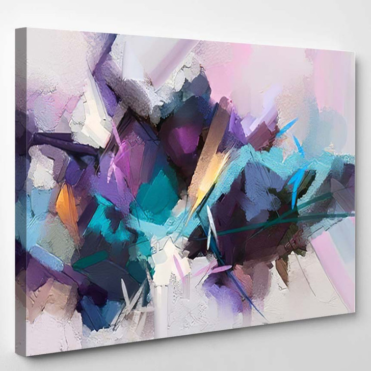 Abstract Colorful Oil Painting On Canvas 11 - Paintings Canvas Art Print