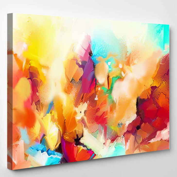 Abstract Colorful Oil Painting On Canvas 13 - Paintings Canvas Art Print