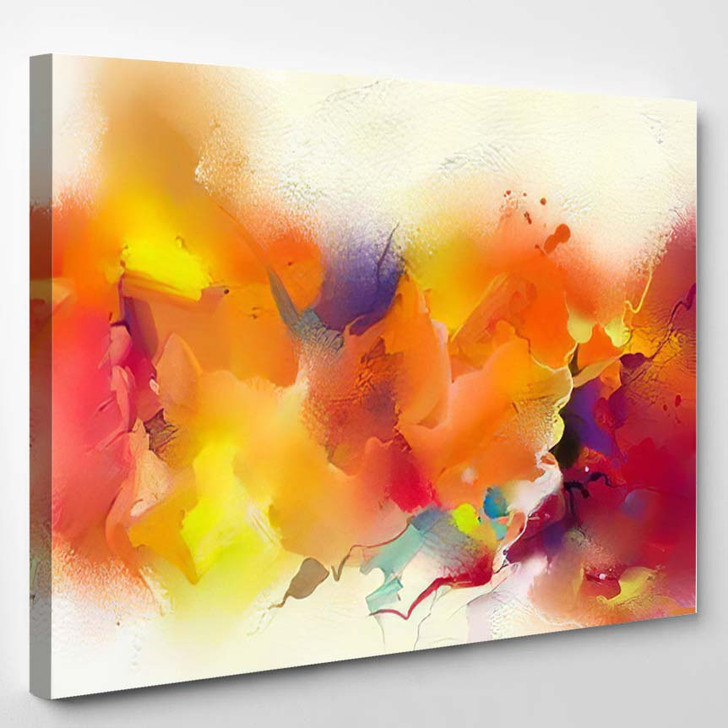 Abstract Colorful Oil Painting On Canvas 14 - Paintings Canvas Art Print