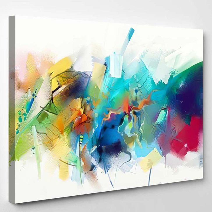 Abstract Colorful Oil Painting On Canvas 15 - Paintings Canvas Art Print