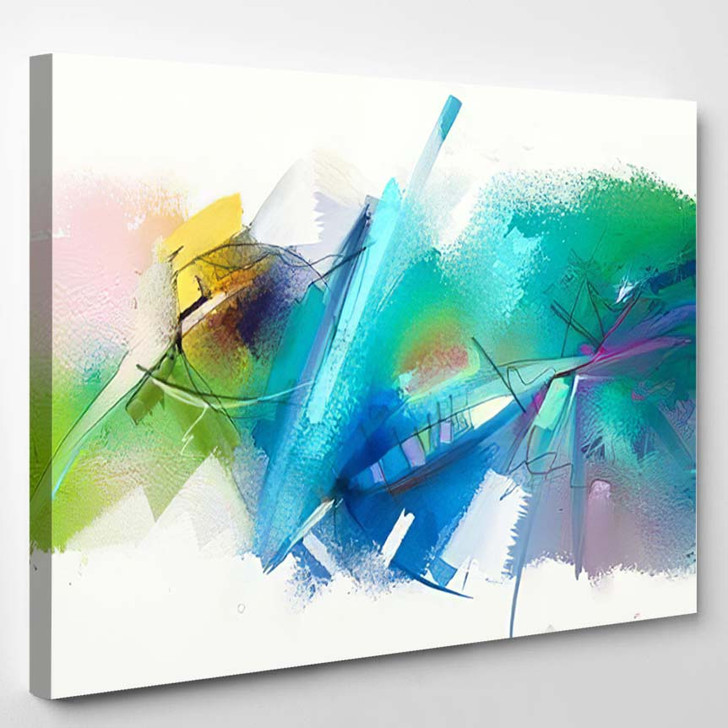 Abstract Colorful Oil Painting On Canvas 16 - Paintings Canvas Art Print