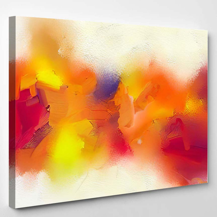 Abstract Colorful Oil Painting On Canvas 17 - Paintings Canvas Art Print