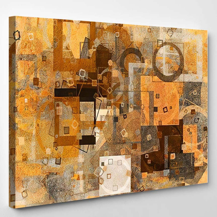 Abstract Grunge Rough Blended Texture Overlay - Paintings Canvas Art Print
