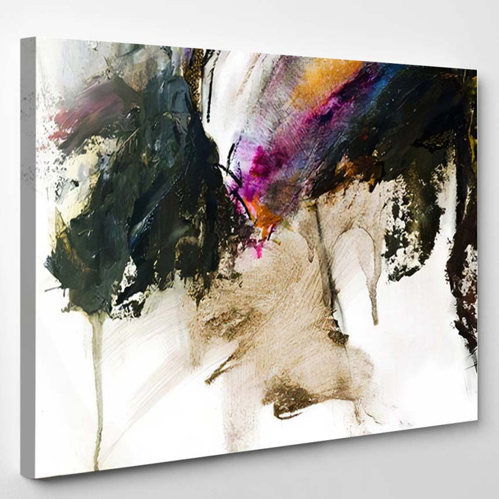 Abstract Oil Painting Background On Canvas 3 - Paintings Canvas Art Print