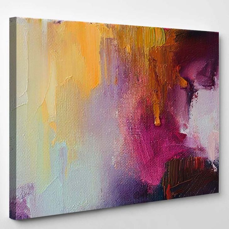 Abstract Oil Painting Background On Canvas 1 1 - Paintings Canvas Art Print