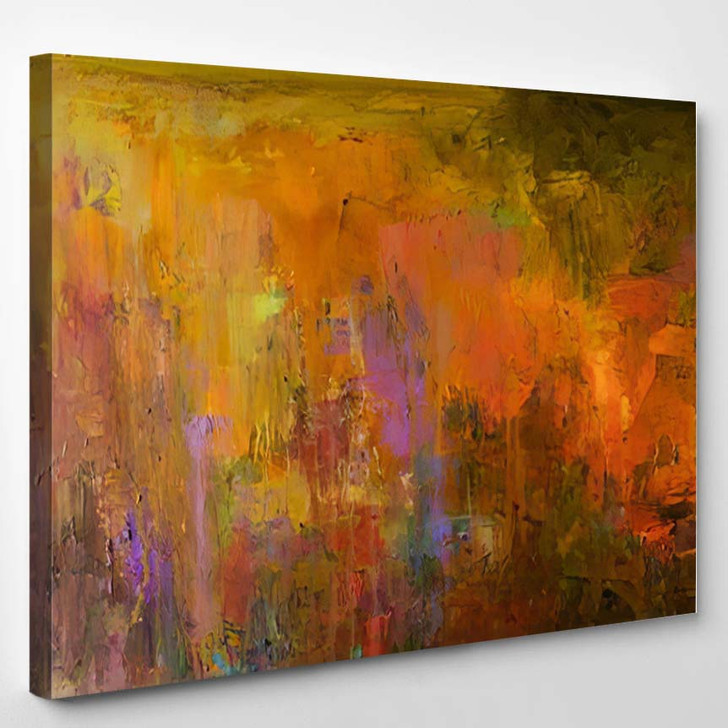 Abstract Oil Painting Background On Canvas 2 1 - Paintings Canvas Art Print