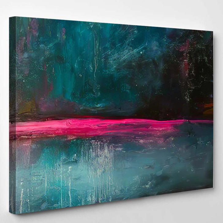 Abstract Oil Painting Background On Canvas 3 1 - Paintings Canvas Art Print