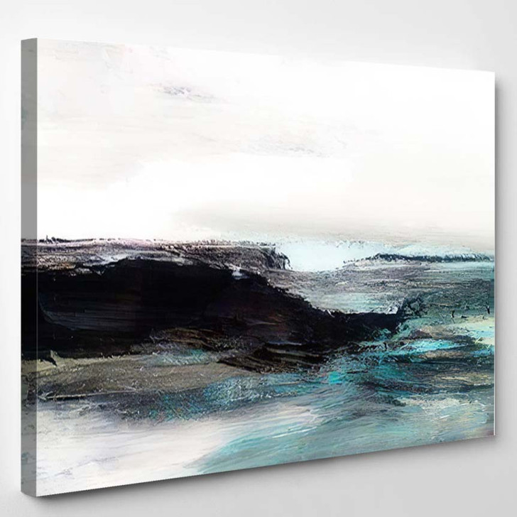 Abstract Oil Texture Background Paint On 1 - Paintings Canvas Art Print