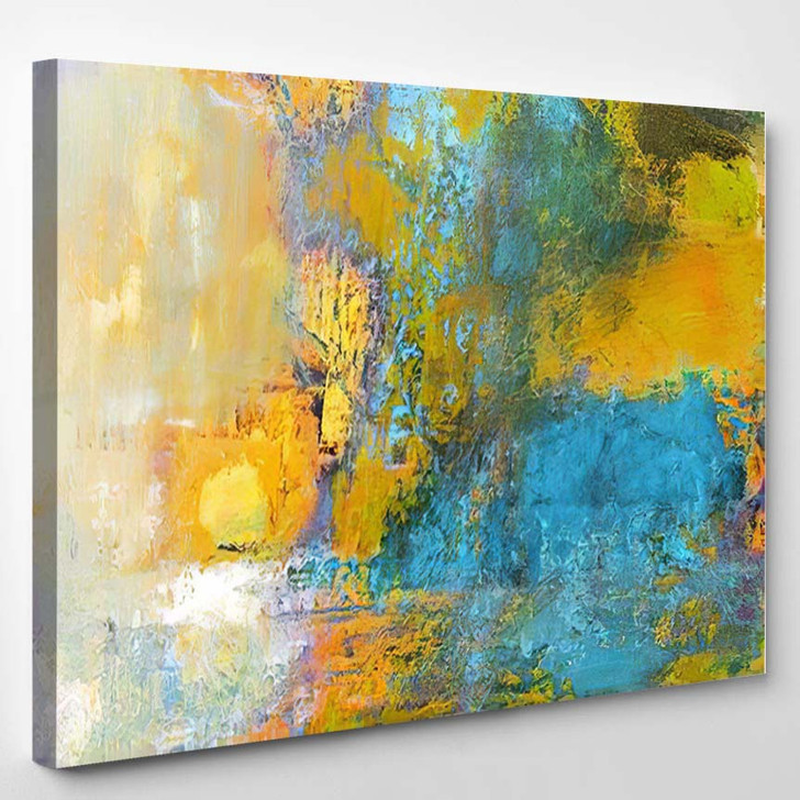 Abstract Original Painting On Canvas Sun - Paintings Canvas Art Print