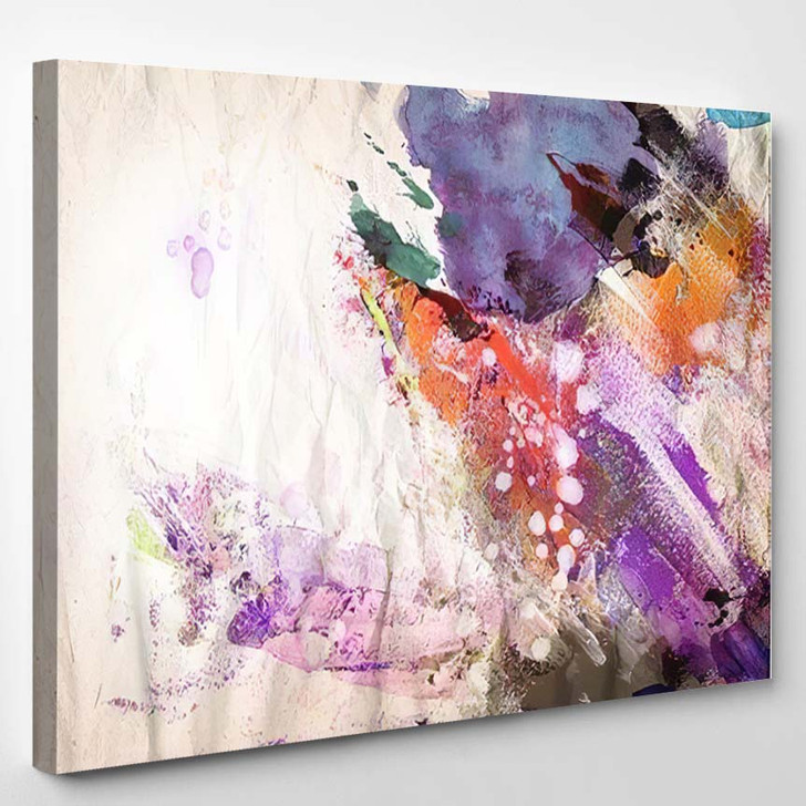 Abstract Painting Background 6 - Paintings Canvas Art Print