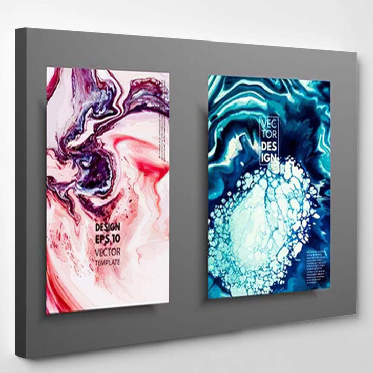 Abstract Painting Can Be Used Trendy 3 - Paintings Canvas Art Print