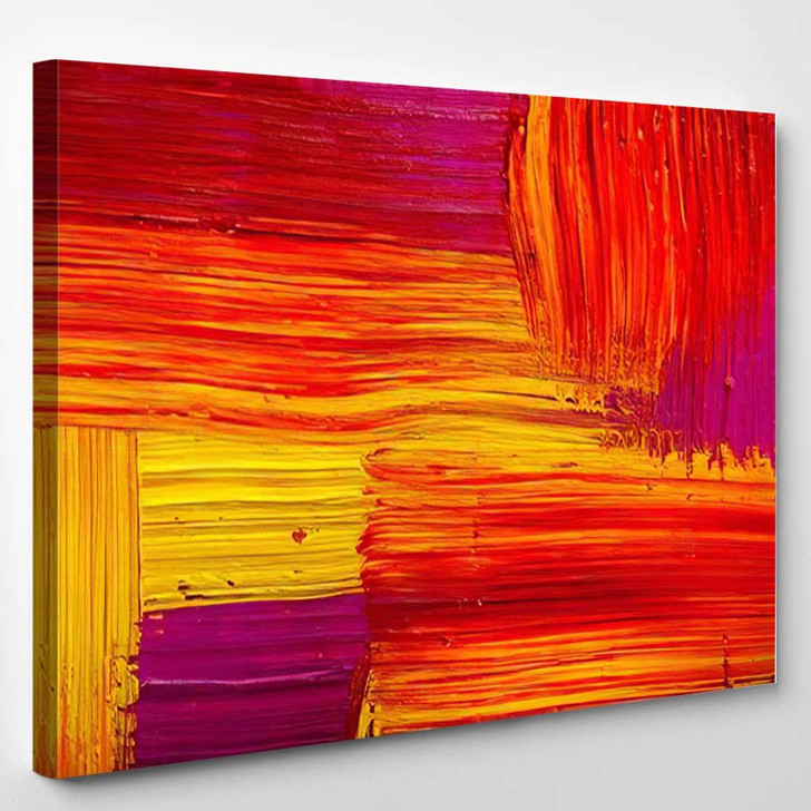 Abstract Painting Color Texture Bright Artistic 1 - Paintings Canvas Art Print