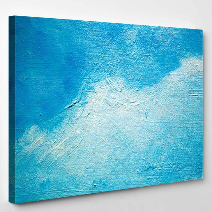 Abstract Painting Oils On Canvas Background - Paintings Canvas Art Print