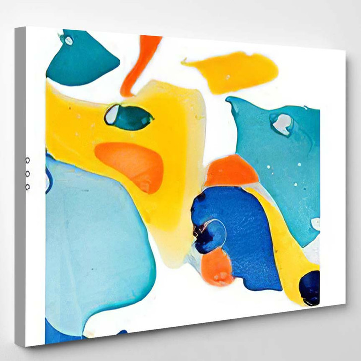 Abstract Painting Template Handmade Texture - Paintings Canvas Art Print