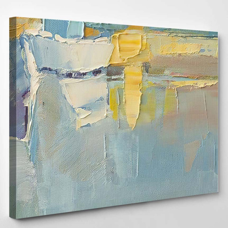 Abstract Wallpaper Oil Painting Brush Strokes 3 - Paintings Canvas Art Print