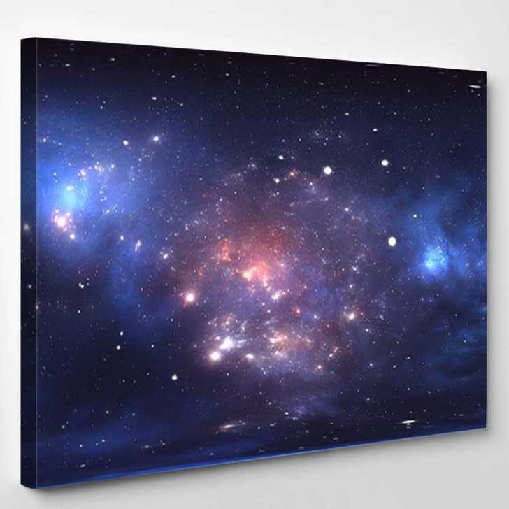 360 Degree Space Nebula Panorama Equirectangular - Sky and Space Canvas Art Print