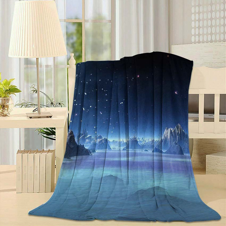 3D Created Rendered Fantasy Alien Planet - Fantasy Throw Blanket