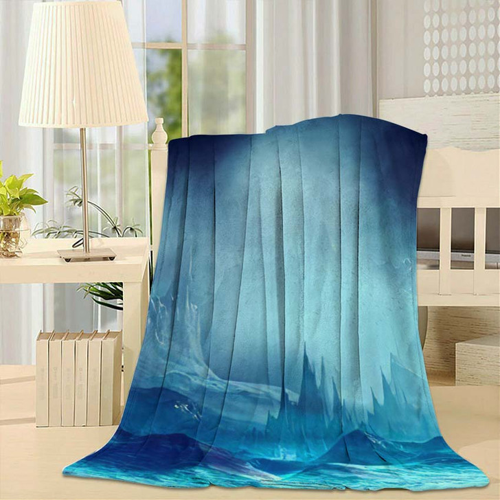 3D Illustration Landscape Fantasy Concept Mountains - Fantasy Throw Blanket