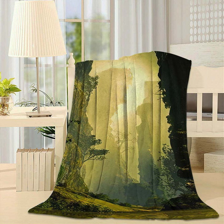 3D Illustration Landscape Where One Observes 1 1 - Fantasy Throw Blanket