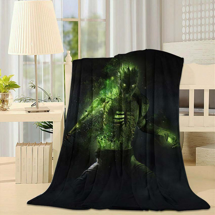 3D Render Zombie Necromancer Character - Fantasy Throw Blanket