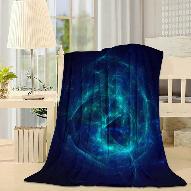 3D Rendering Abstract Fractal Light Background 1 1 - Fantasy Throw Blanket