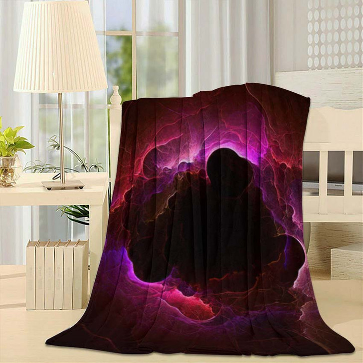 3D Rendering Abstract Fractal Light Background 2 1 - Fantasy Throw Blanket
