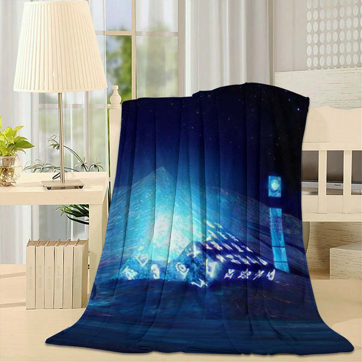 3D Illustration Fantastic World Ancient Artifacts - Fantastic Throw Blanket