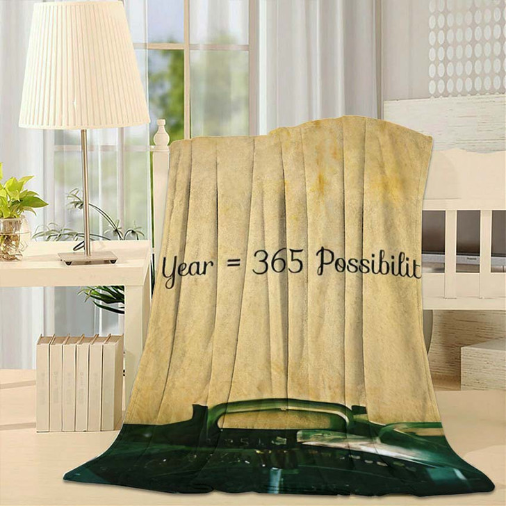 1 Year 365 Possibilities Inspiration Motivational - Quotes Throw Blanket
