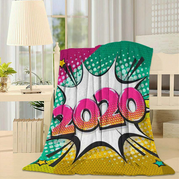 2020 Cartoon Comic Text Speech Bubble - Cartoon Throw Blanket