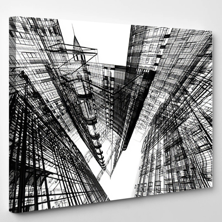 Abstract Architecture - Abstrast Canvas Art Print