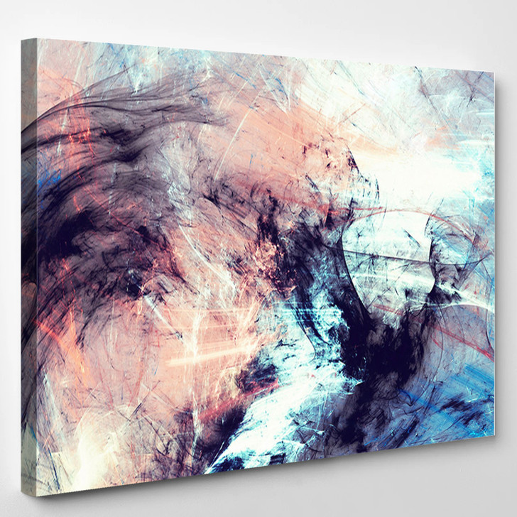 Abstract Color Dynamic - Abstrast Canvas Art Print