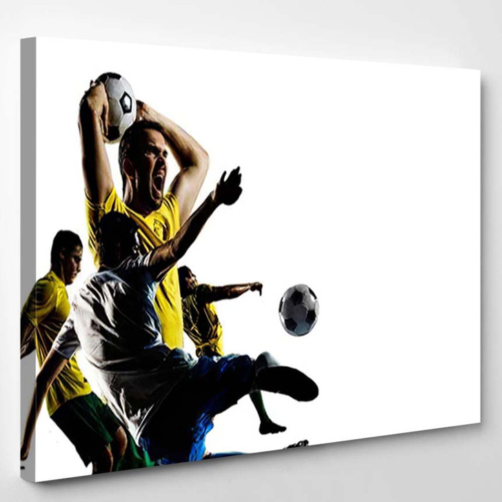 Abstract Soccer Theme Hottest Match Moments - Football Canvas Art Print