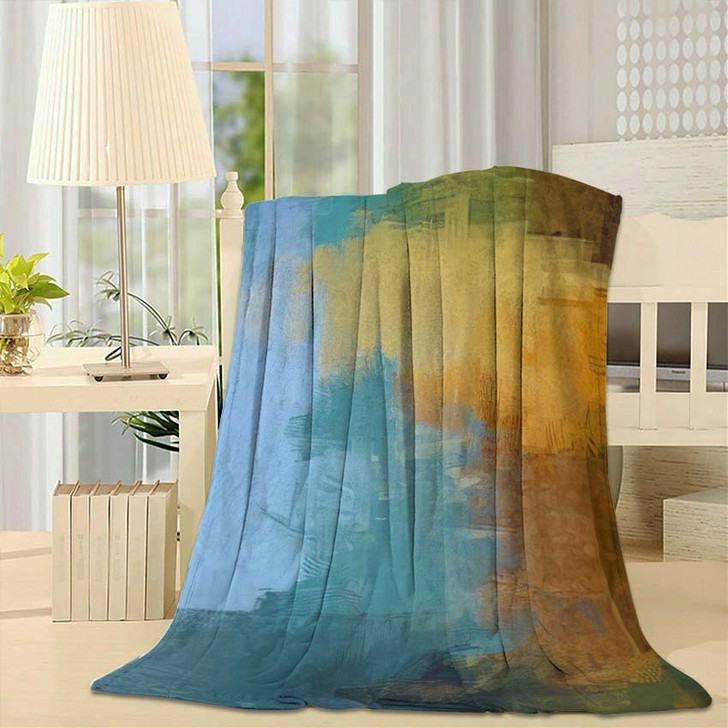2D Illustration Contemporary Art Hand Made - Abstract Art Throw Blanket