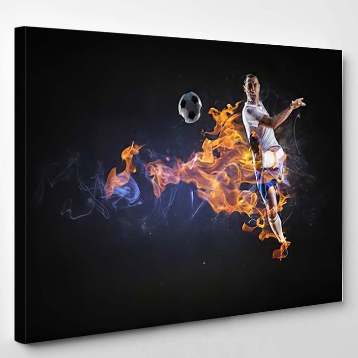 Game Hottest Moments 1 - Football Canvas Art Print