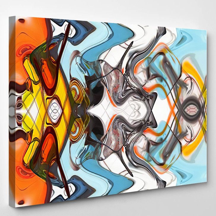 Colorful Abstract - Abstrast Canvas Art Print