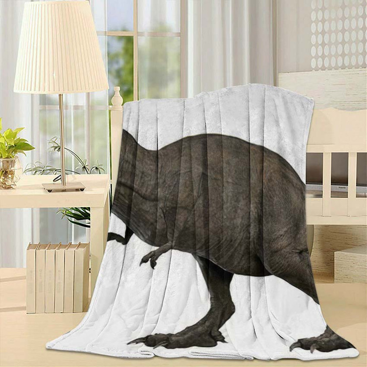 3D Rendered Trex Tyrannosaurus Rex 4 - Godzilla Animals Throw Blanket