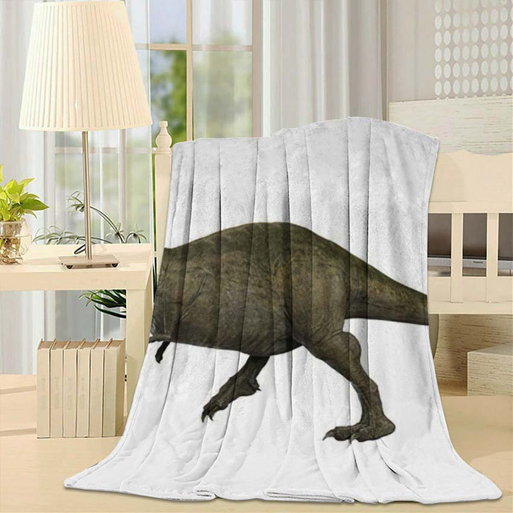 3D Rendered Trex Tyrannosaurus Rex 5 - Godzilla Animals Throw Blanket