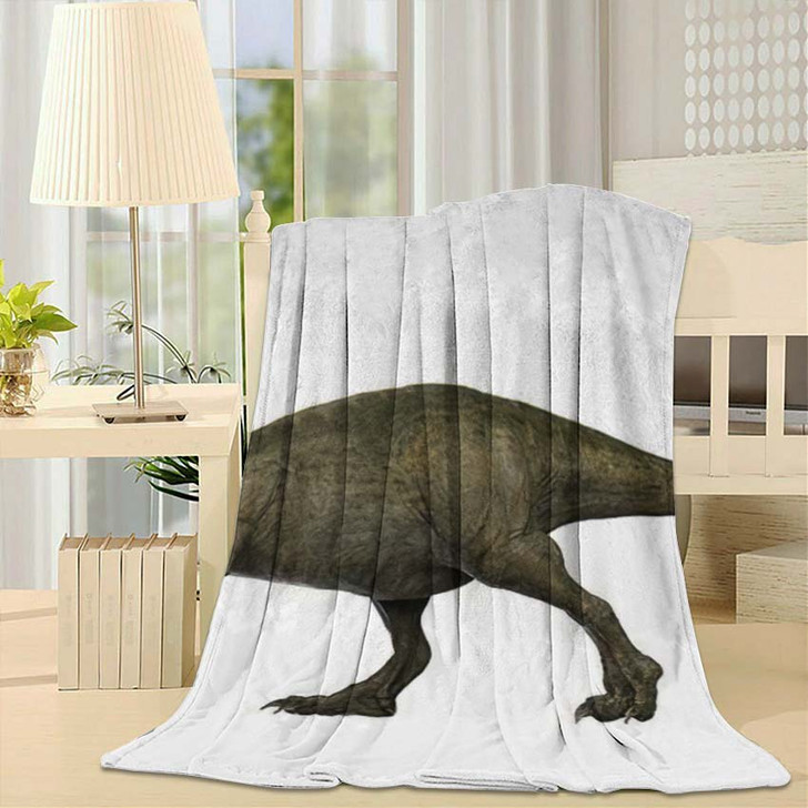 3D Rendered Trex Tyrannosaurus Rex 9 - Godzilla Animals Throw Blanket