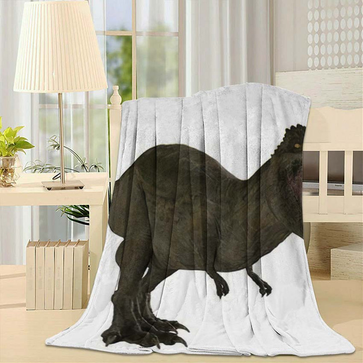 3D Rendered Trex Tyrannosaurus Rex 12 - Godzilla Animals Throw Blanket