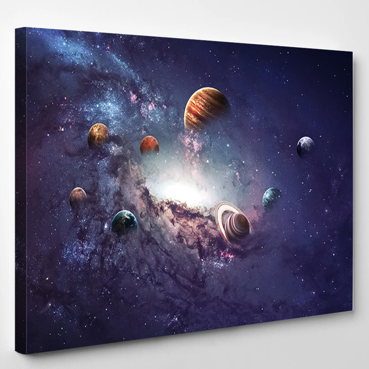 High Resolution Images Presents Creating Planets Of The Solar System - Sky And Space Canvas Art Print