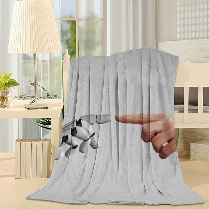 3D Rendering Artificial Intelligence Ai Research 14 - Creation of Adam Throw Blanket