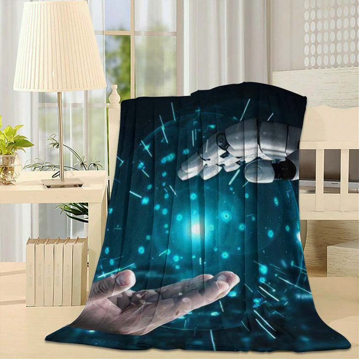 3D Rendering Artificial Intelligence Ai Research 16 - Creation of Adam Throw Blanket