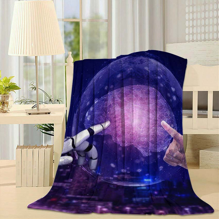3D Rendering Artificial Intelligence Ai Research 20 - Creation of Adam Throw Blanket
