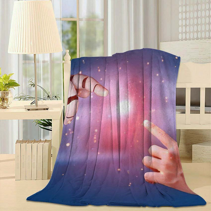 3D Rendering Artificial Intelligence Ai Research 21 - Creation of Adam Throw Blanket