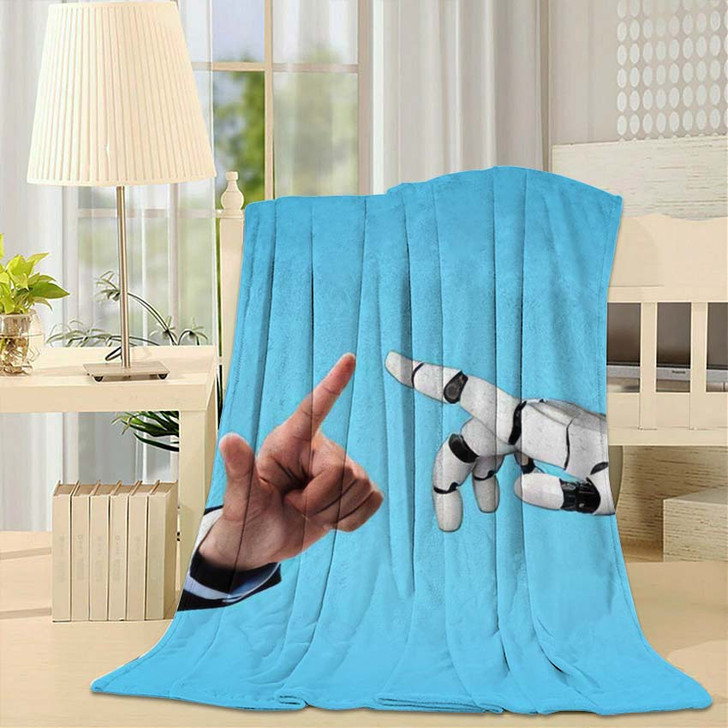 3D Rendering Artificial Intelligence Ai Research 23 - Creation of Adam Throw Blanket