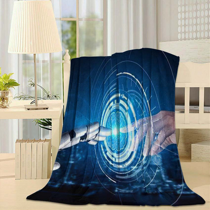 3D Rendering Artificial Intelligence Ai Research 26 - Creation of Adam Throw Blanket