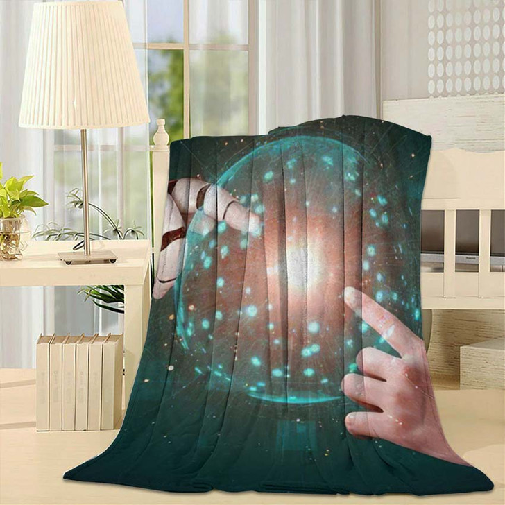 3D Rendering Artificial Intelligence Ai Research 27 - Creation of Adam Throw Blanket