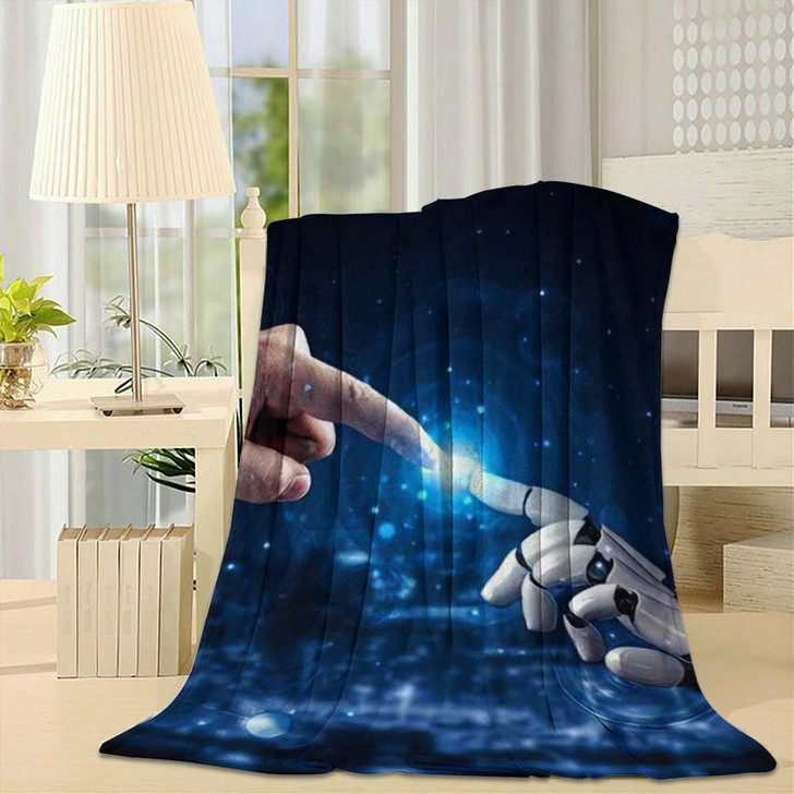 3D Rendering Artificial Intelligence Ai Research 30 - Creation of Adam Throw Blanket