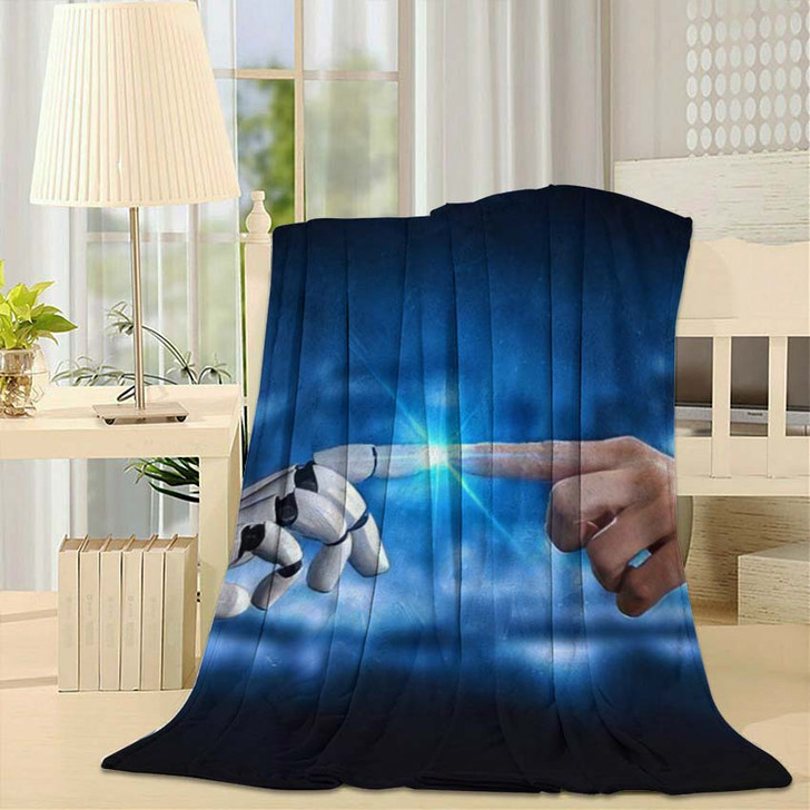 3D Rendering Artificial Intelligence Ai Research 33 - Creation of Adam Throw Blanket