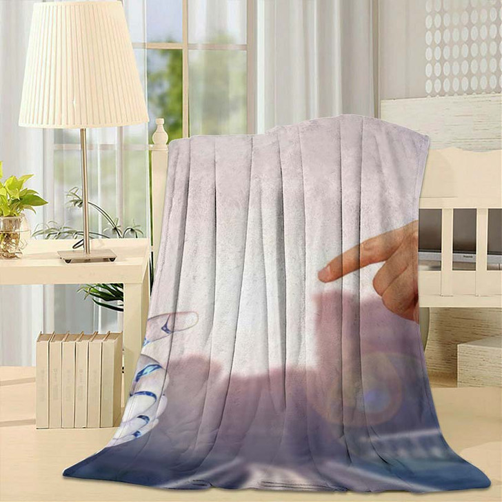3D Rendering Artificial Intelligence Ai Research 35 - Creation of Adam Throw Blanket